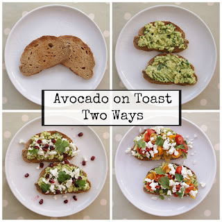 Avocado on Toast with Feta, Lime, Coriander and Pomegranate Recipe