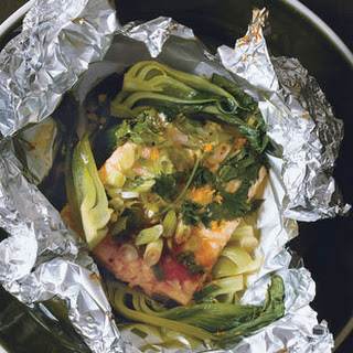 Salmon with Hoisin, Orange, and Bok Choy