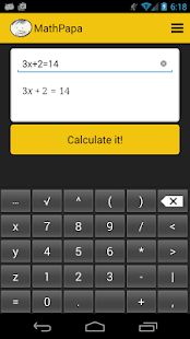 MathPapa - Algebra Calculator- screenshot thumbnail