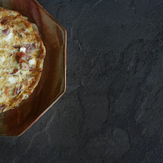 Recipe for Three Meat and Goat Cheese Frittata