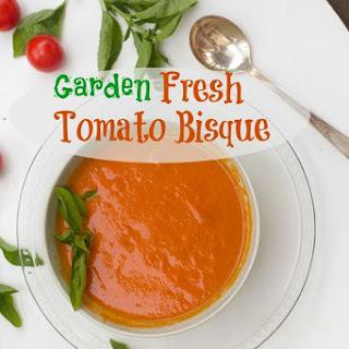 Fresh Garden Tomato Basil Soup