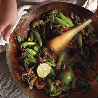 Swiss Chard, Snap Peas, and Beef Stir-Fry Recipe