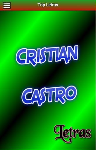 Letras Cristian Castro
