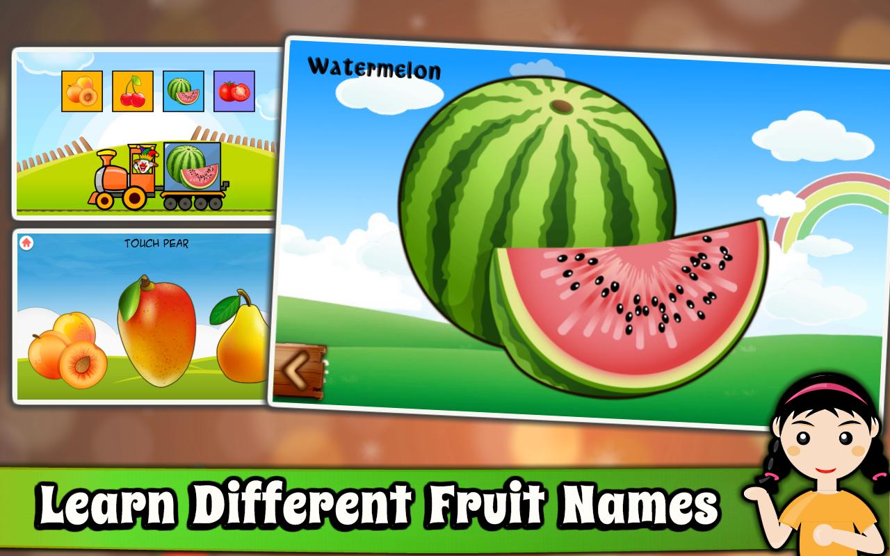 Fruit shoot game - Kids Preschool Learning Games Screenshot