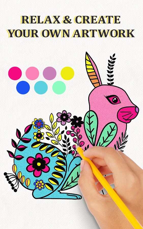 creative haven coloring book screenshot - Creative Haven Coloring Books