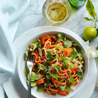 Spiralized Salad with Asian Lime Vinaigrette Recipe