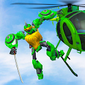 Ninja Robot Transform Turtle War Helicopter Robot icon