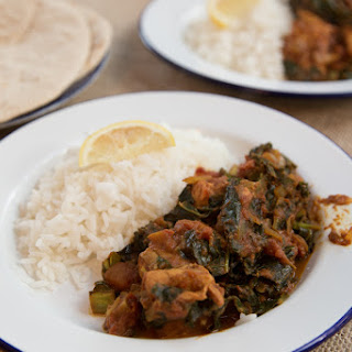 Salmon and Kale Curry.