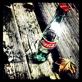 COKE  by Brandon Rose - Logos All Logos ( cola, red, coke, black and white, color, bridge )