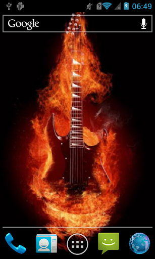 Fiery guitar Live WP