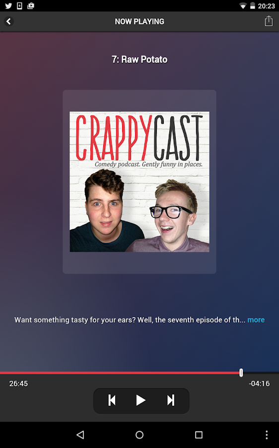 CrappyCast Podcast App- screenshot