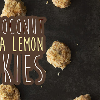 Raw Coconut Banana Lemon Cookies.