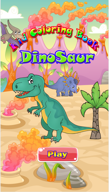 Dinosaur Coloring Book Game Screenshot