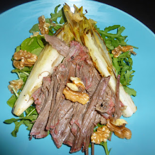 Corned Beef, Griddled Chicory and Walnut Salad with a Pommegranate Molasses Dressing Recipe