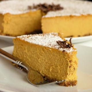 Pumpkin Mascarpone Cheesecake.