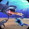 голодный хищников акула icon