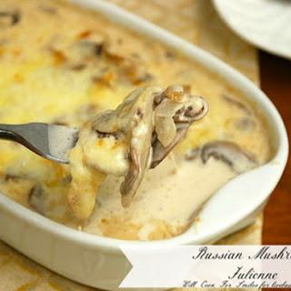 A Russian Dish | Mushroom Julienne.