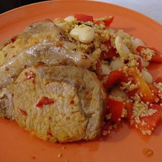 One Pot Harissa Pork with Butterbean Cous Cous