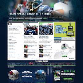 Seahawks homepage concept by Tobin Howard - Web & Apps Pages