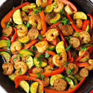 Cajun Sausage and Shrimp Skillet + GIVEAWAY! Recipe