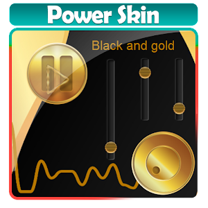 Black and gold Poweramp Skin