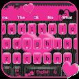 Pink Heart Keyboard Theme