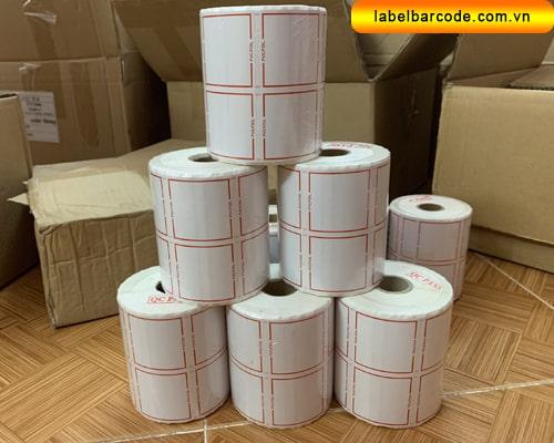 xưởng cung cấp giấy in mã vạch 2 tem uy tín giá rẻ