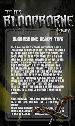 Tips for Bloodborne ready