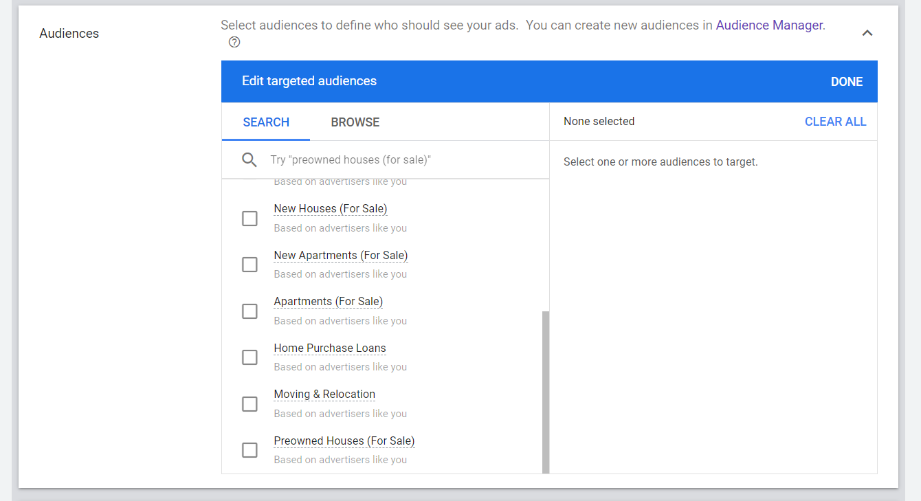 Google Ads Audiences