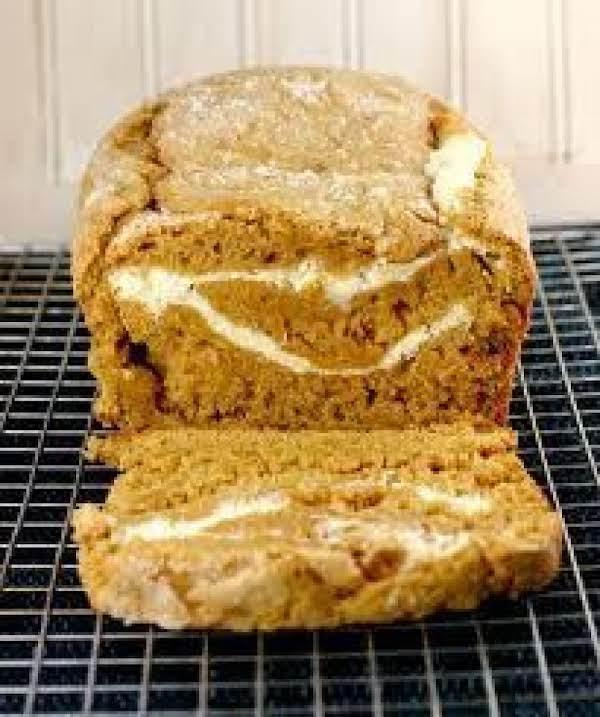 Pumpkin Cream Cheese Swirl Bread