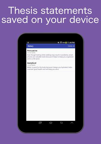android Thesis Generator Screenshot 4