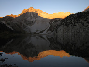 Photo: Morning alpine-glow from camp.