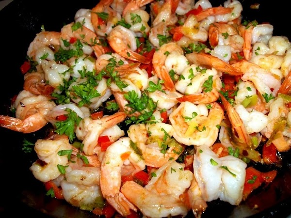 Now, add the shrimp and saute until shrimp turn pink ( do not overcook...