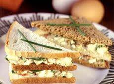 Egg Salad Club Sandwich