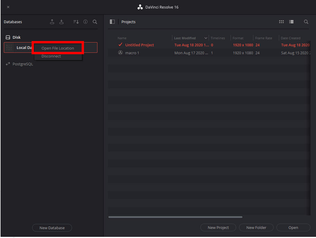Where Does DaVinci Resolve Save Projects