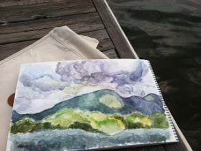 Photo: May, 2012-CU Bald Mountain-Watercolor-Lake Lure, NC