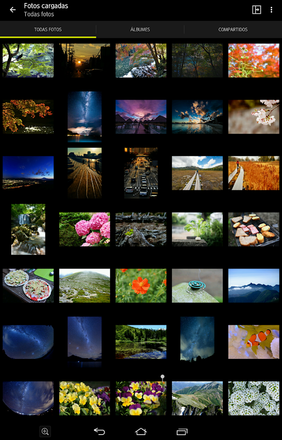 NIKON IMAGE SPACE: captura de pantalla