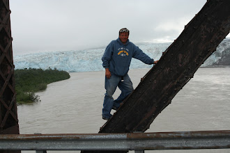 Photo: Standing on the Million Dollar Bridge with the Miles Glacier