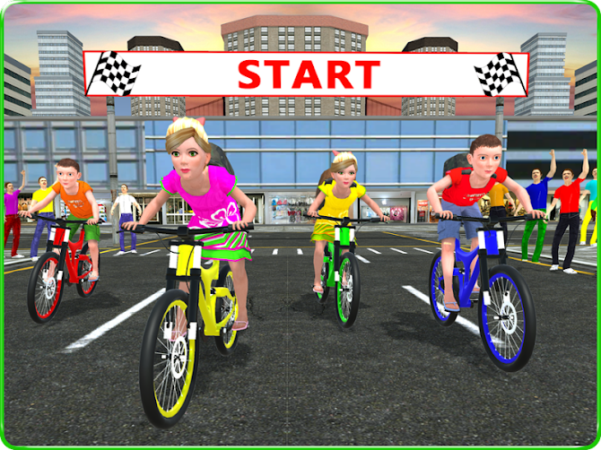Kids School Time Bicycle Race Android 11