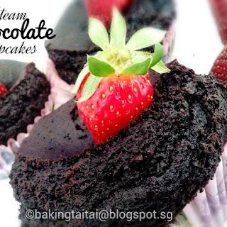 Steam Moist Chocolate Cupcake.