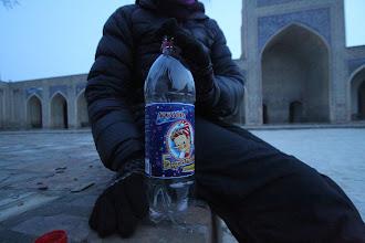 Photo: Besidžiaugiant Buratinu :)  While enjoying old Russian lemonade- Buratinas ;)