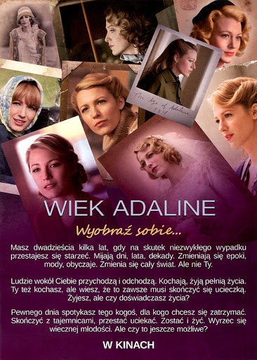 Tył ulotki filmu 'Wiek Adaline'