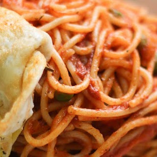 {Recipe} Easy Spaghetti with Tomato Sauce and Fried Egg