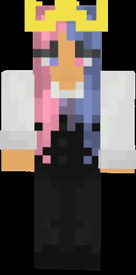 pastel hair suit girl ish =3