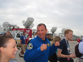 "Photo: Astronaut Dominic ""Tony"" Antonelli walked us out to see the astrovan pass by!"