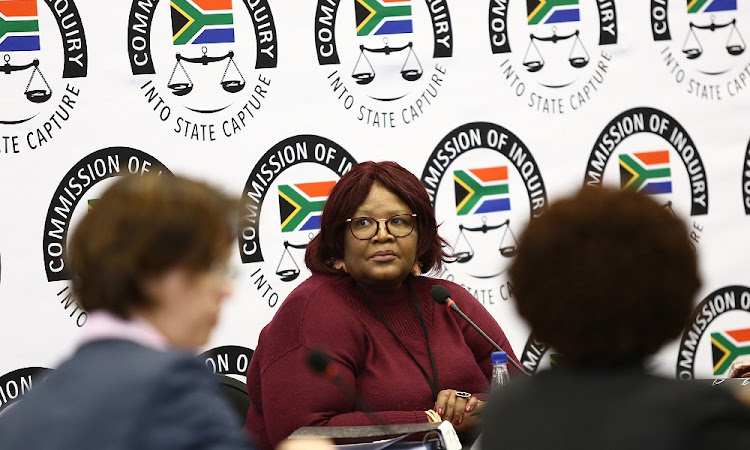 Former ANC MP Vytjie Mentor appears before the State Capture Commission of Inquiry in Parktown, Johannesburg, on Monday, August 27 2018, where she is giving evidence on the Gupta family's alleged influence on state related matters including appointing of cabinet ministers.