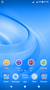 Swirls Blue Theme For Xperia - náhled