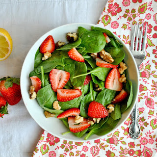 Strawberry Spinach Salad with Sweet Lemon Dressing.