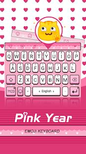 Pink Year Theme&Emoji Keyboard - náhled