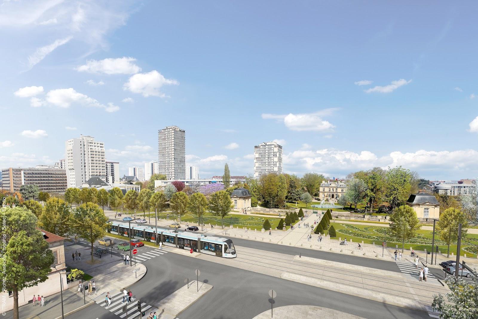 Estações ficam a cada 550 metros, visando à intermodalidade entre os modos de transportes e o acesso seguro aos pedestres. (Tram 9/Reprodução)